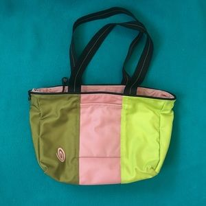 Timbuk2 Small Pink and Green Tote or Shoulder Bag